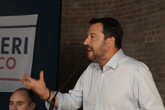 Matteo Salvini è tornato a Piacenza per sostenere il candidato sindaco Patrizia Barbieri