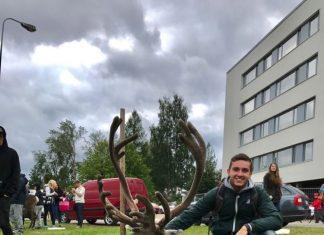 Il piacentino Nicolò Scaravaggi studente Erasmus a Rovaniemi
