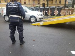 Sequestro auto Polizia Municipale Piacenza