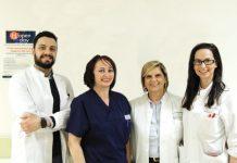 Nella foto, alcuni dei medici e infermieri dell'equipe di Ginecologia e Ostetricia di Piacenza