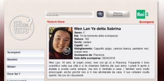 Chi l'ha visto alla ricerca di Sabrina Ye