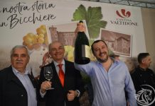 Matteo Salvini visita lo stand della Cantina Valtidone a Vinitaly