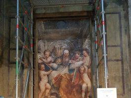 Restauro dell'affresco di Sant'Agostino finanziato dalla Banca di Piacenza