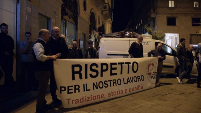 sit-in del consorzio La Carne Che Piace contro il fanatismo vegano