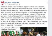 Post di Giovanni Castagnetti sugli alpini