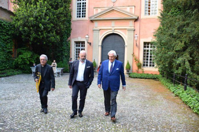 Stefano Bonaccini con il conte Orazio Zanardi Landi