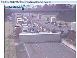 Incidente sulla A1 verso Bologna
