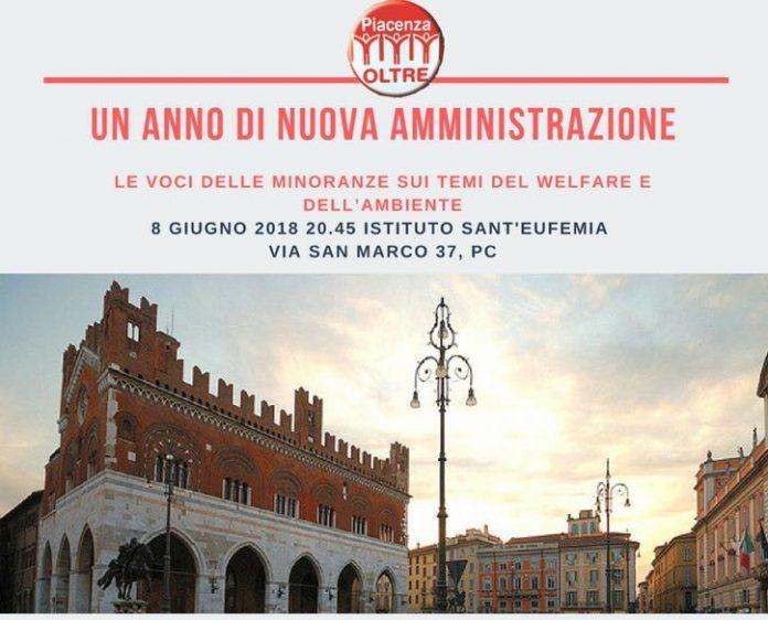 Le minoranze giudicano il primo anno di amministrazione a Piacenza