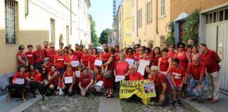 Una Maglietta rossa per fermare emorragia umanità. Libera in via Tibini