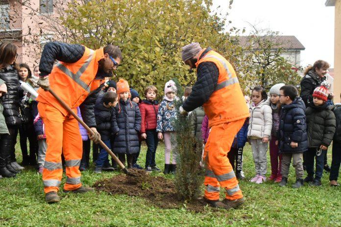 Andrea chiede alla sindaca di piantare un albero, e la proposta viene accolta
