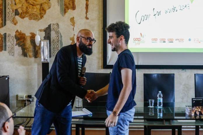 La premiazione dell'edizione 2018 di Coop Words