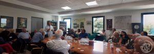 Emilio Bertuzzi incontra il gruppo in sala riunioni