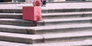 Sciame api in centro a Piacenza
