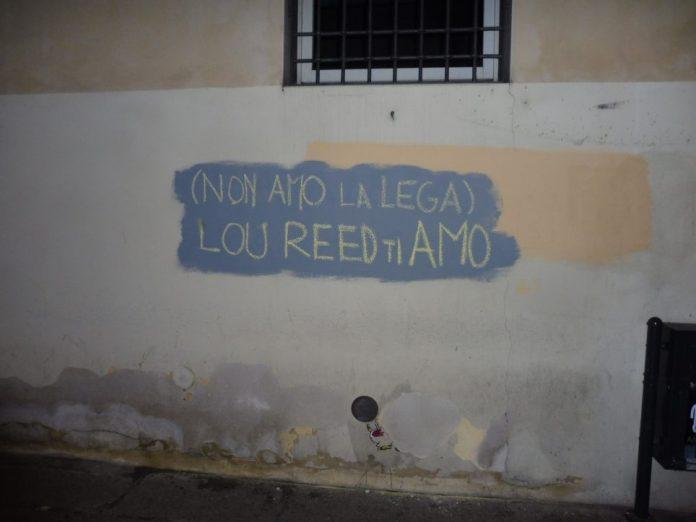 Alberto Esse, indagato per la scritta