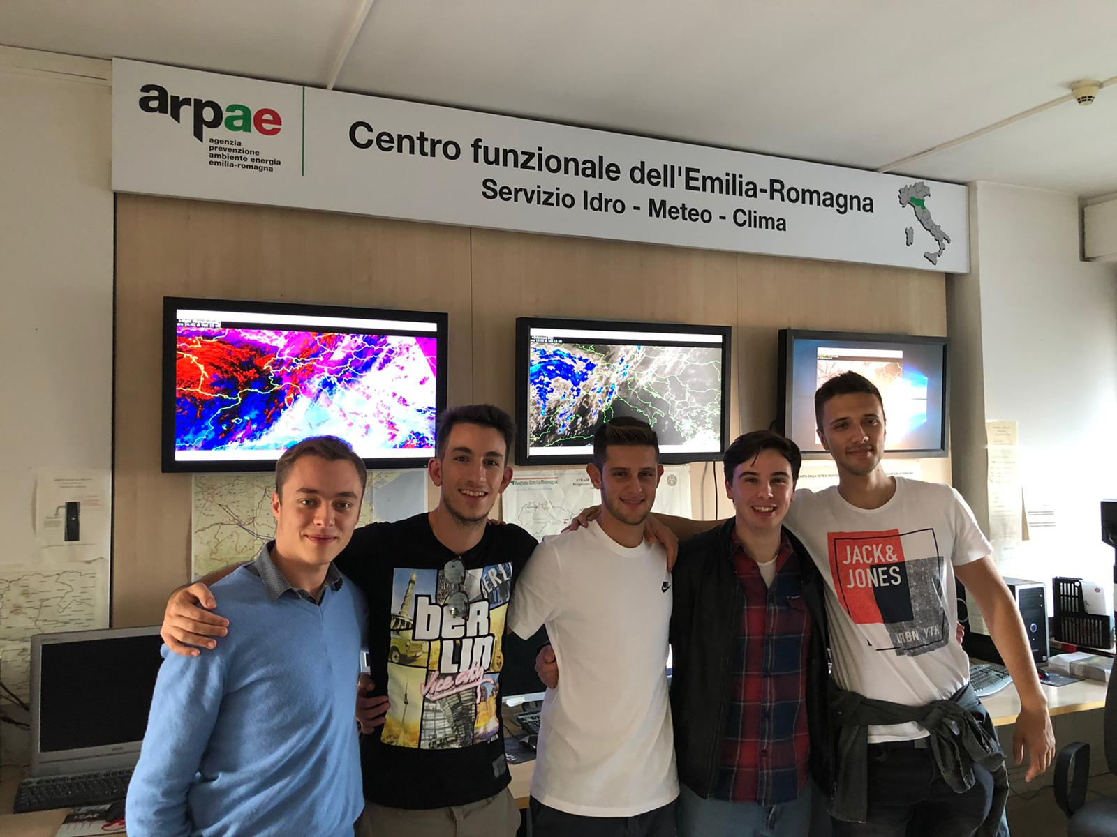 I componenti del Centro Meteo Emilia Romagna