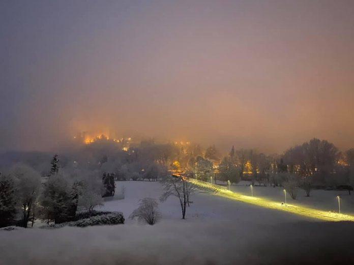 La provincia piacentina si è svegliata sotto la neve, seppur di debole intensità