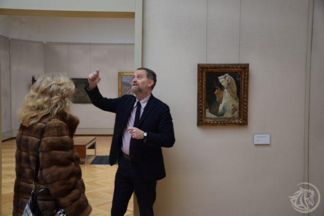 La posizione dove era collocato il Klimt rubato