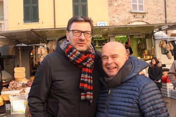 Giampaolo Maloberti con Giorgetti