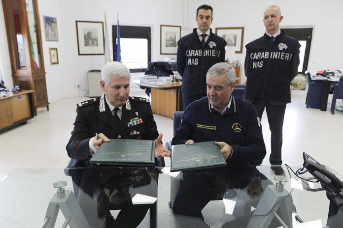 rotezione Civile firmato programma operativo tra il Dipartimento e i Carabinieri per la Tutela della Salute