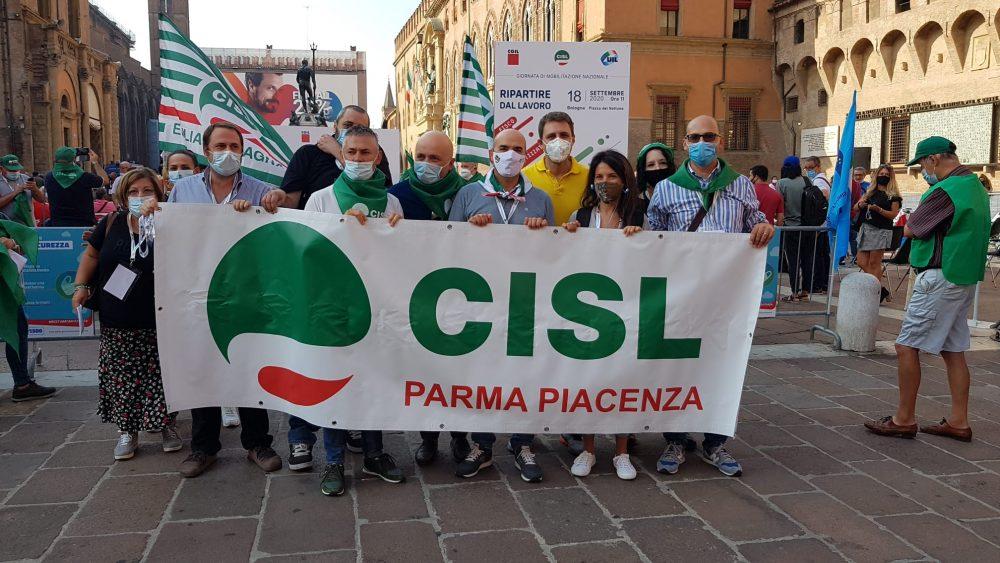 delegazione cisl parma-piacenza a Bologna