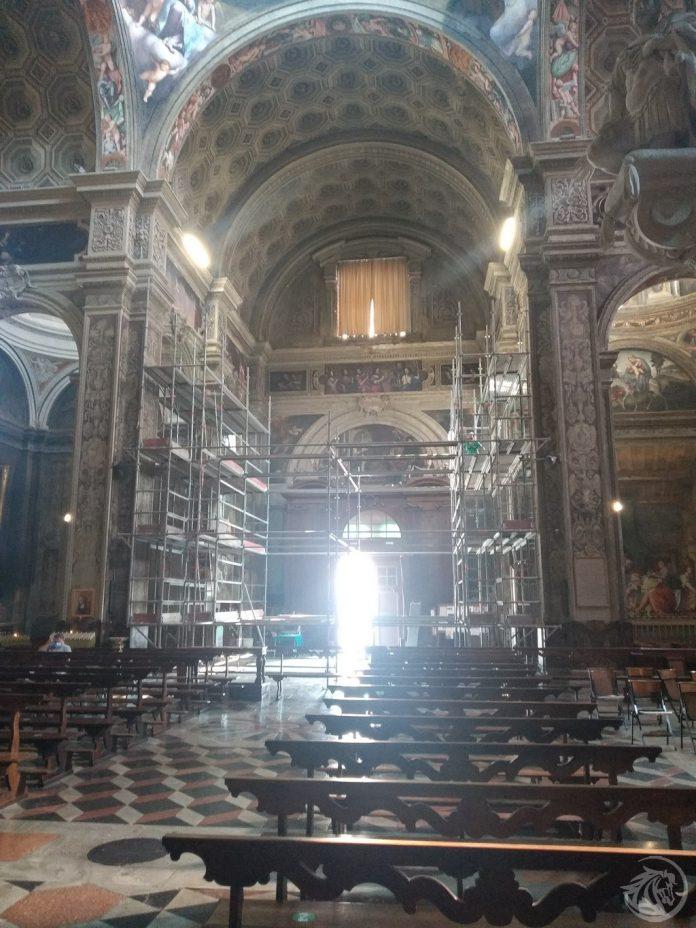 Restauro stucchi Santa Maria di Campagna