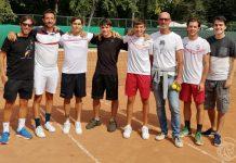La squadra di tennis maschile della Vittorino da Feltre Piacenza