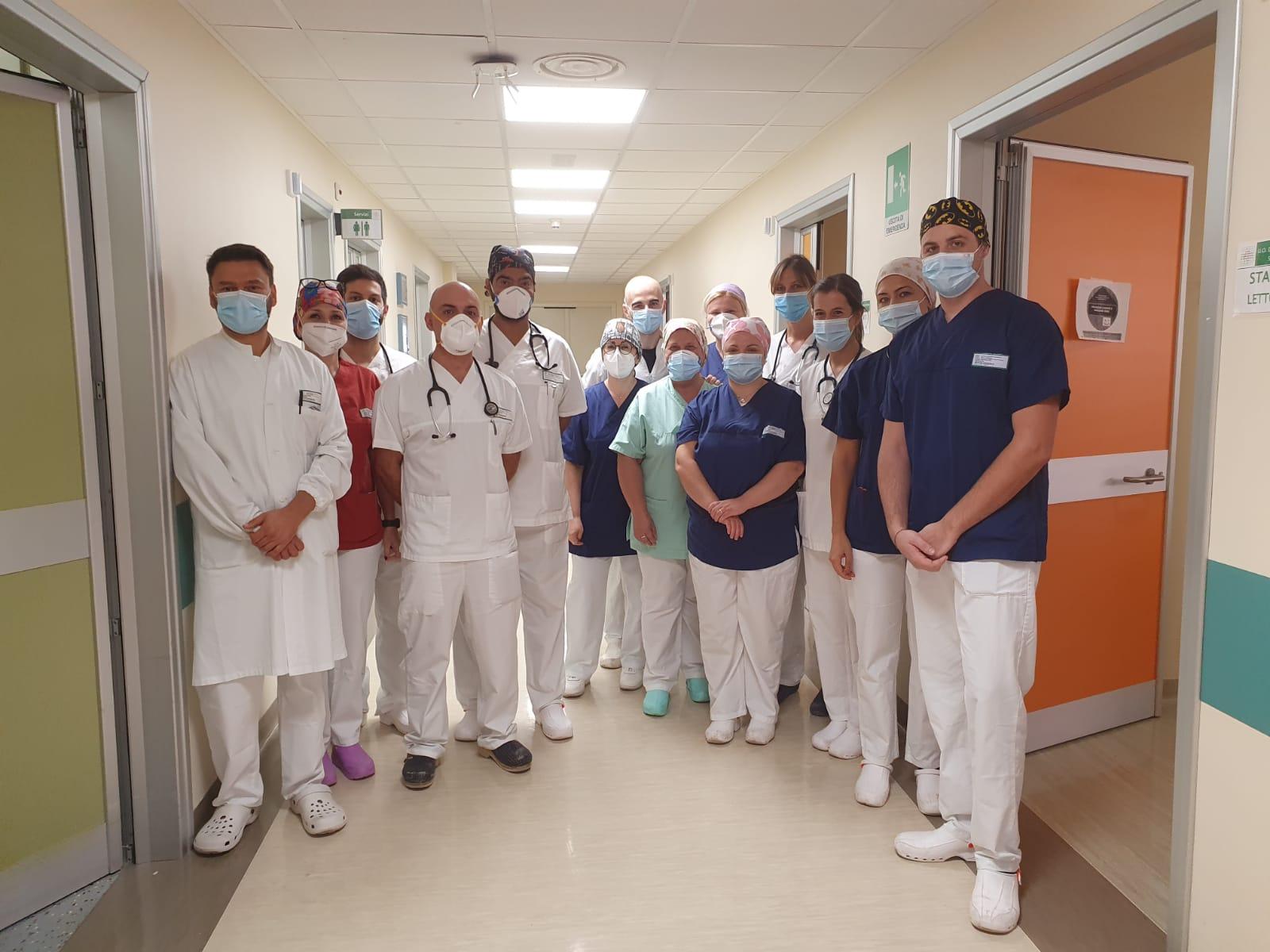 Ospedale di Piacenza equipe di area critica