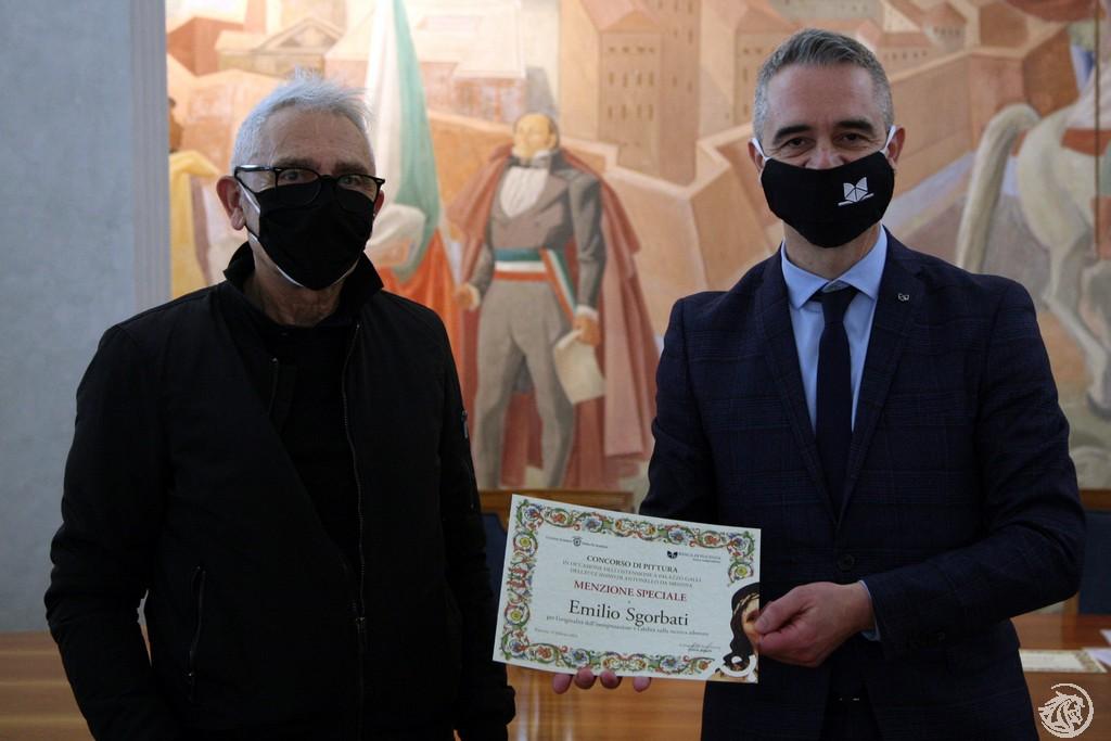 Emilio Sgorbati premiato da Pietro Boselli
