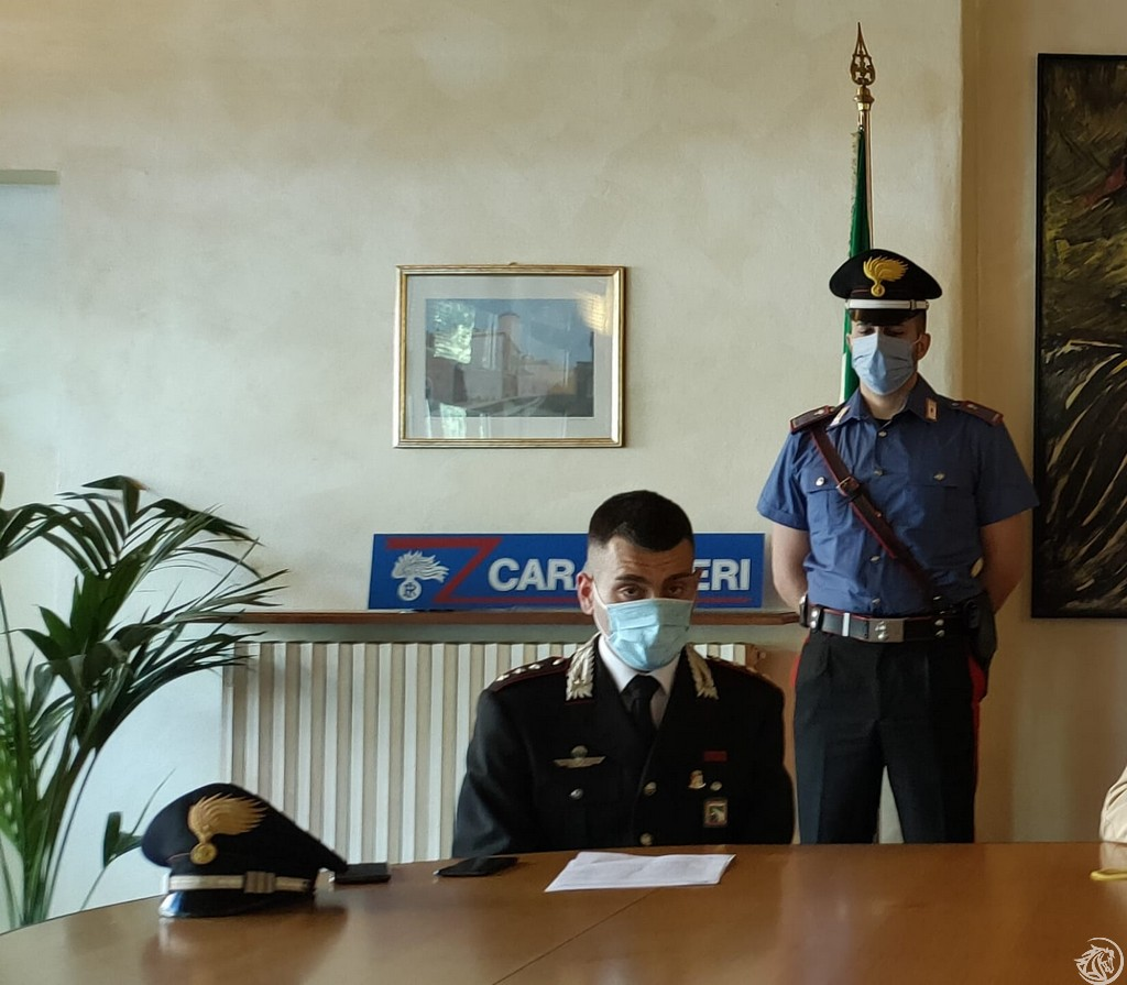 Giancarmine Carusone comandante della Compagnia carabinieri di Piacenza