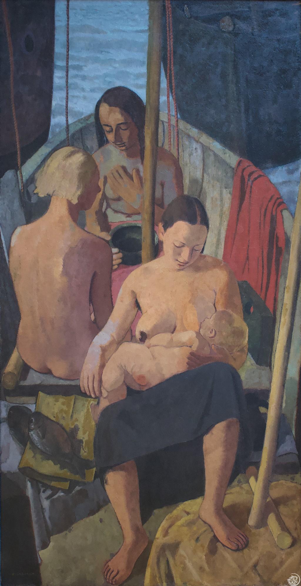 GRO_Felice Casorati, Donne in Barca_1933