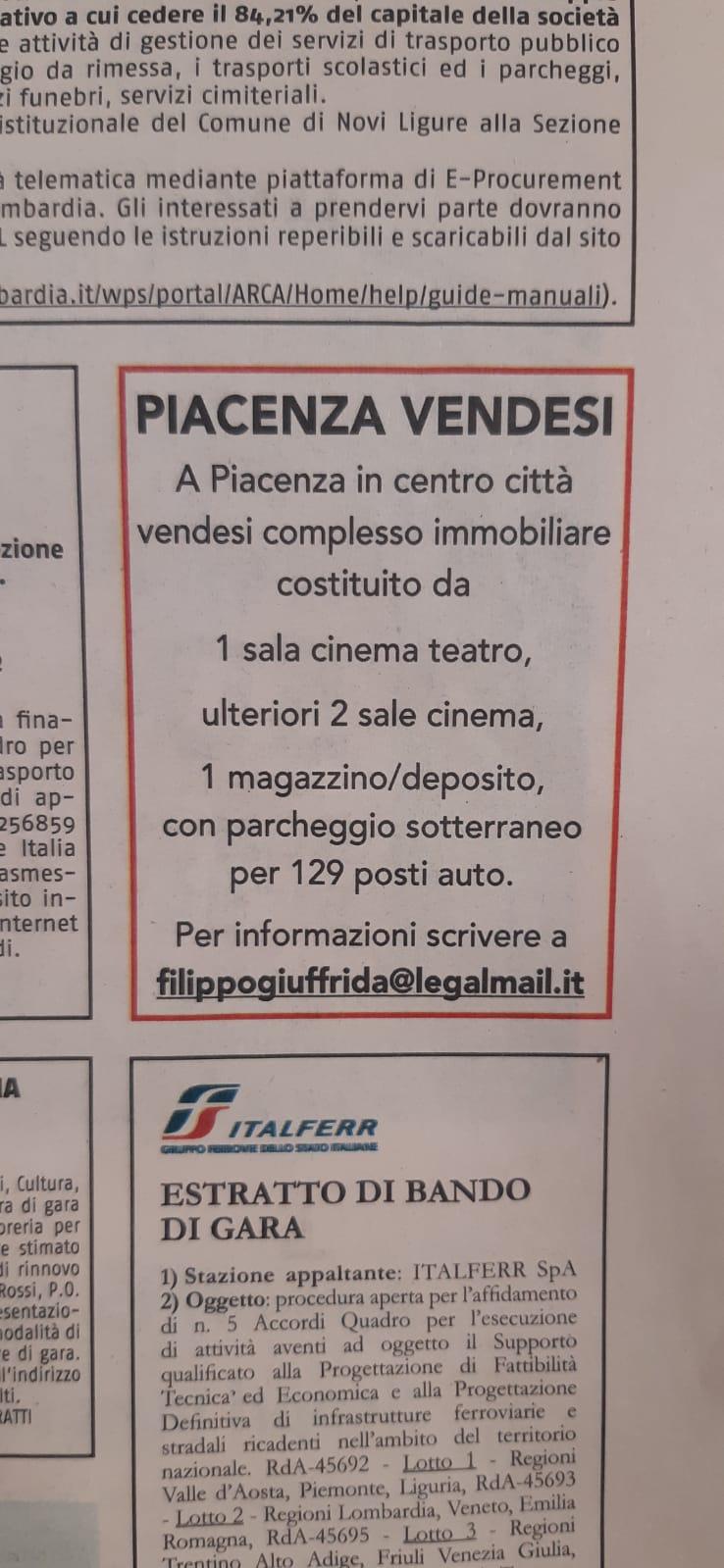 Annuncio-vendita-Cinema